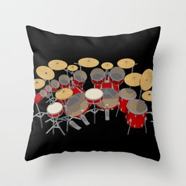 Large Drum Kit Throw Pillow