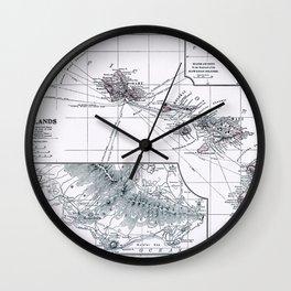 Vintage Hawaii Map 1899 Wall Clock