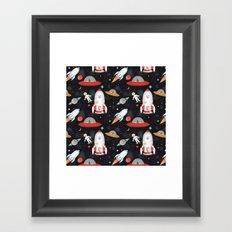Spaceships Framed Art Print