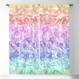 Crystal Gemstone Background Pattern - Geodes + Quartz Points Blackout Curtain