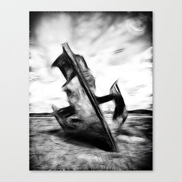 Ghostly Wreck Canvas Print