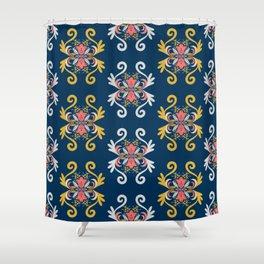 Damask Floral Pattern Shower Curtain
