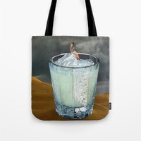 drink Tote Bags featuring DRINK by Beth Hoeckel