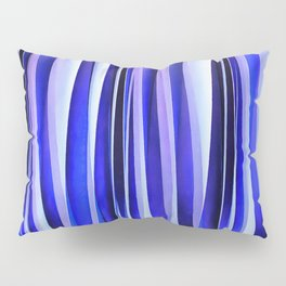 Peace and Harmony Blue Striped Abstract Pattern Pillow Sham