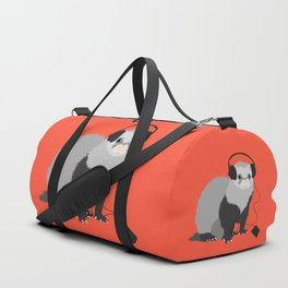 Music Loving Ferret Duffle Bag
