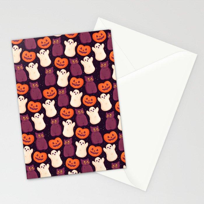 Halloween Marshmallows Stationery Cards