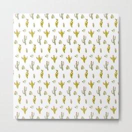 Cute and trendy watercolor cactus design Metal Print