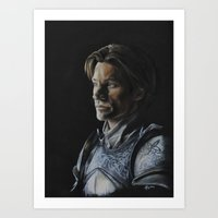 lannister Art Prints featuring Jaime Lannister by HevArtScenic