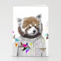 kris tate Stationery Cards featuring RED PANDA by Jamie Mitchell and Kris Tate by Kris Tate