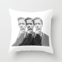 ryan gosling Throw Pillows featuring Ryan Gosling by Harry Martin