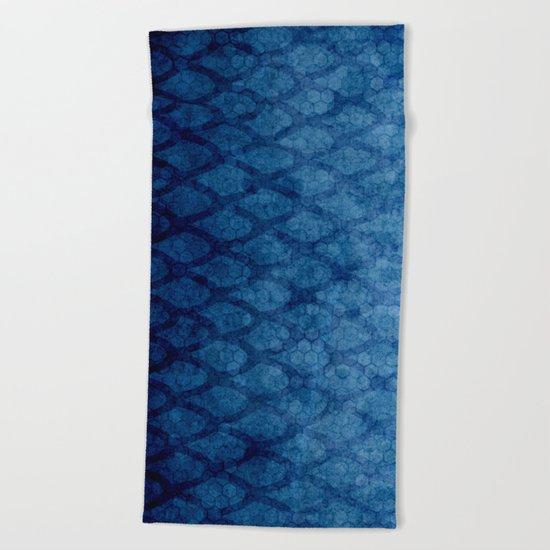 Blue texture Beach Towel