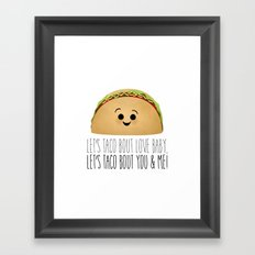 Let's Taco Bout Love Baby Framed Art Print