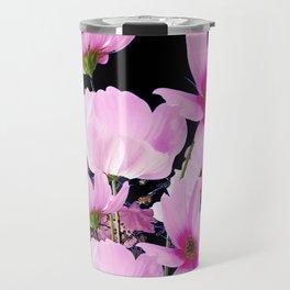 DELICATE PINK-FUCHSIA COSMO BLACK ART Travel Mug
