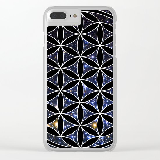 Flower of life in the space Clear iPhone Case