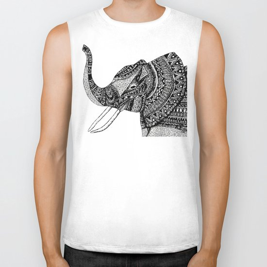 Allison Elephant Black and White Biker Tank