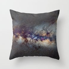 The Milky Way: from Scorpio, Antares and Sagitarius to Scutum and Cygnus Throw Pillow