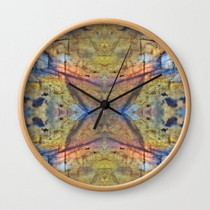 Labradorite Macro Wall Clock