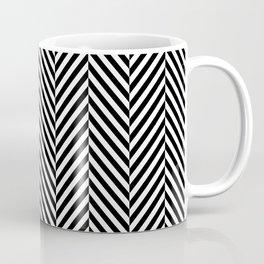 Classic Black & White Herringbone Pattern Coffee Mug