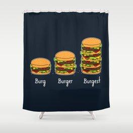 Burger explained 2. Burg. Burger. Burgest. Shower Curtain