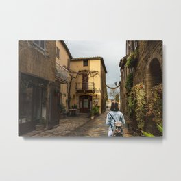Old town of Tuscany Metal Print