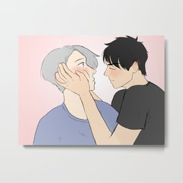 yuuri first kiss - yuri on ice Metal Print