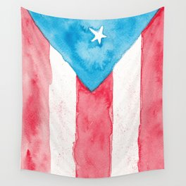 Puerto Rico Watercolour Wall Tapestry