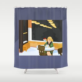 Automat by Hopper Shower Curtain