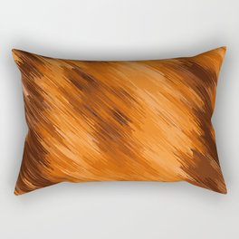 brown orange and dark brown painting texture abstract background Rectangular Pillow