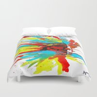 native american Duvet Covers featuring Native American by ART HOLES