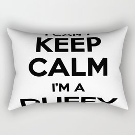 I cant keep calm I am a DUFFY Rectangular Pillow
