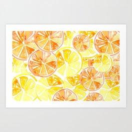 Citrus Celebration Art Print