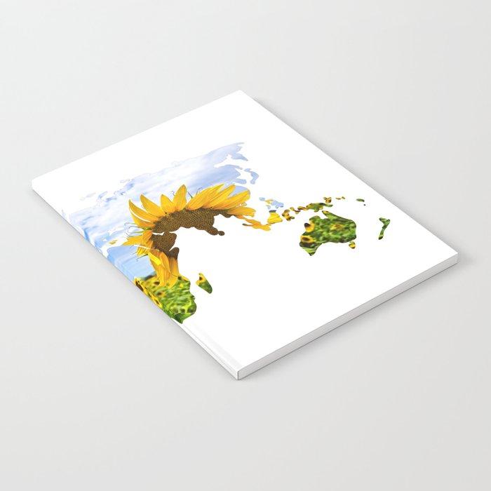 World of Sunflowers Notebook