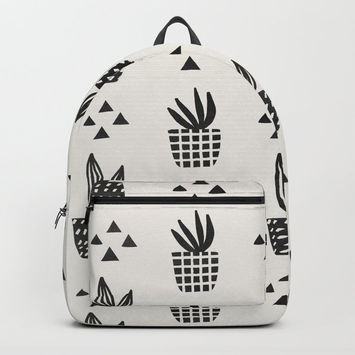 Trendy Stamped Potted Plants Backpack