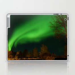 aurora borealis in the  north of sweden Laptop & iPad Skin
