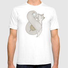 Catpersand MEDIUM White Mens Fitted Tee