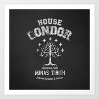 gondor Art Prints featuring House Gondor by Nxolab