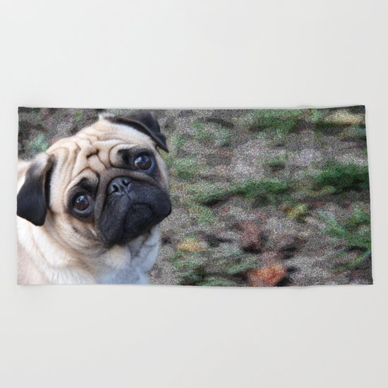 Pug Beach Towel