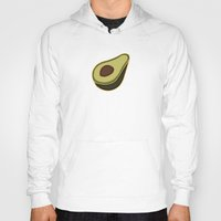 avocado Hoodies featuring Avocado Pattern by Alisa Galitsyna