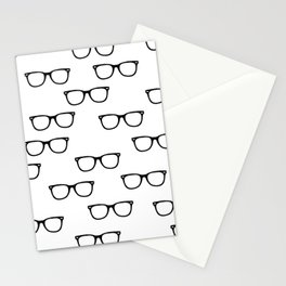 I See // Hipster Glasses Pattern Stationery Cards