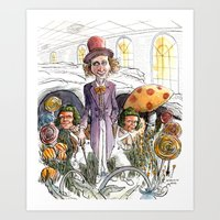Gene and the Chocolate Factory Art Print