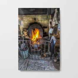 Victorian Fire Place Metal Print