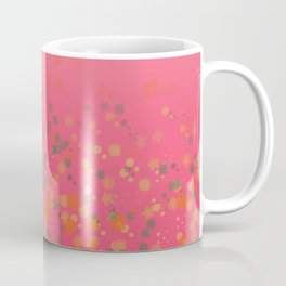 Pink, green and orange ombre flower rain Coffee Mug