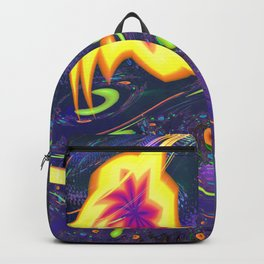 Yellow Amoebas with Ribbons 0001a Backpack