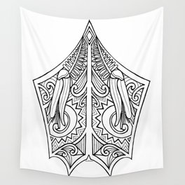 Huia Maori Art Kowhai Flower Wall Tapestry