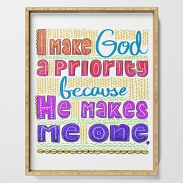 God's Priority Serving Tray