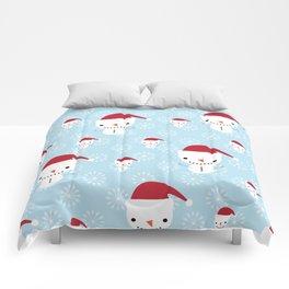 Snowmen and snowflakes Comforters