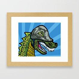 Warrior Dino (1 of 2 in Warrior Series) Framed Art Print