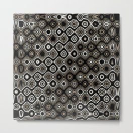 Wobbly Dots in silvery grey Metal Print