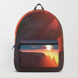 Sunset at the canyon Backpack