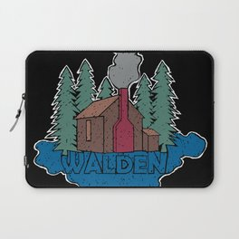 Walden - Henry David Thoreau (Coloured textured version) #society6 #decor #buyart Laptop Sleeve
